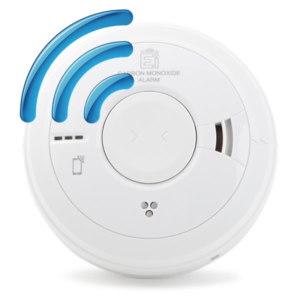 Mains Radio-Interlinked Carbon Monoxide Alarm with Lithium Back-up - Ei3018RF