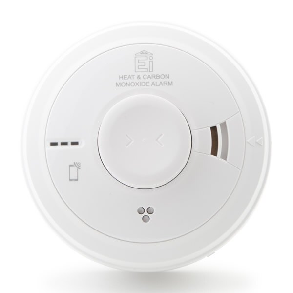 Mains Powered Combined Heat and Carbon Monoxide Alarm with Lithium Back-up - Ei3028