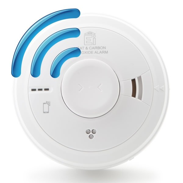 Mains Radio-Interlinked Combined Heat and Carbon Monoxide Alarm with Lithium Back-up - Ei3028RF