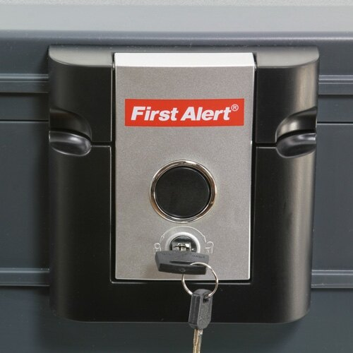 First Alert 2037 fire and waterproof document box privacy lock