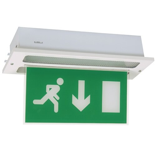 Recessed Slimline Fire Exit Sign With Self-Test (Fire Exit Sign Blade) - FMPR/ST