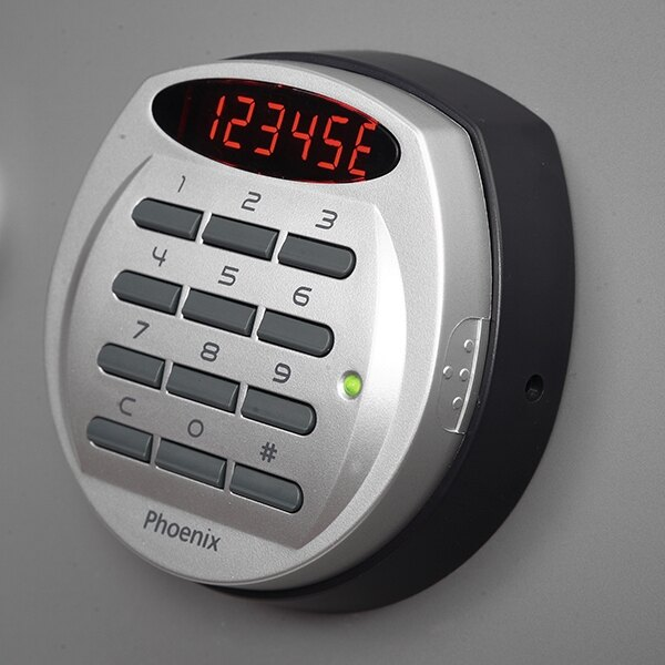 Electronic lock with clear LED display