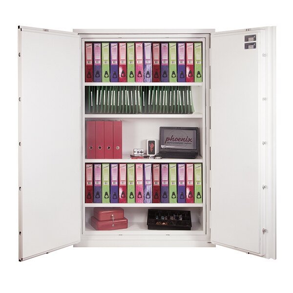 Supplied with height adjustable shelves including hanging rails for lateral files