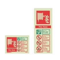 Image of the Photoluminescent Fire Hose Signs