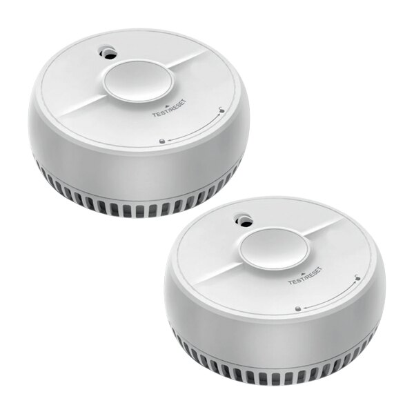 9V Optical Smoke Alarm with Test and Hush Button - FireAngel SB1-TPR Twin Pack