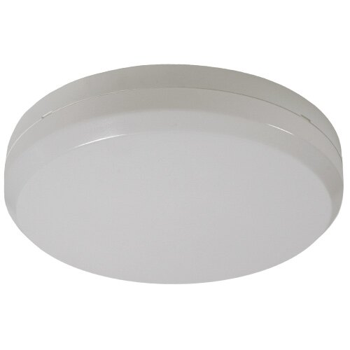 Decorative Circular Emergency Bulkhead Light With Self-Test - GR/ST