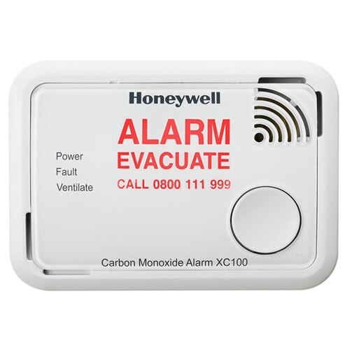 The Honeywell XC100 displays an action text warning on activation