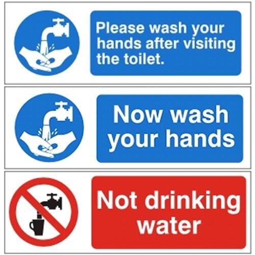 Mandatory Bathroom Hygiene Signs