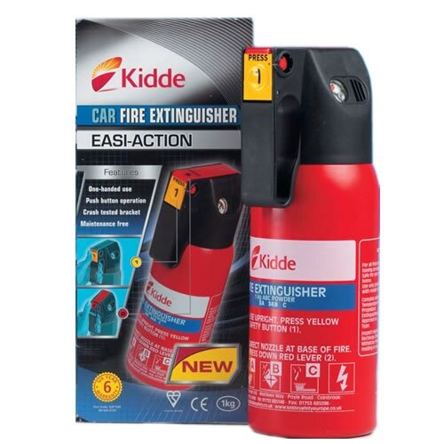 Kidde Easi-Action Car Powder Fire Extinguisher