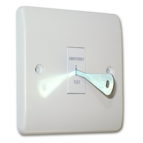 Key Switch for Emergency Lighting Supplied with Key