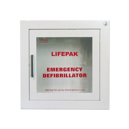 Physio-Control Lifepak Wall Cabinet with Alarm