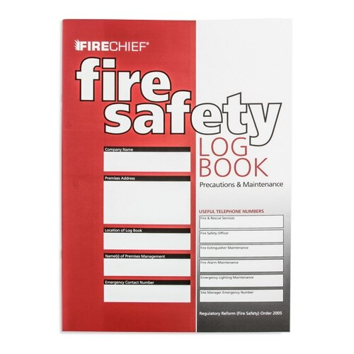 fire safety logbook. Black Bedroom Furniture Sets. Home Design Ideas