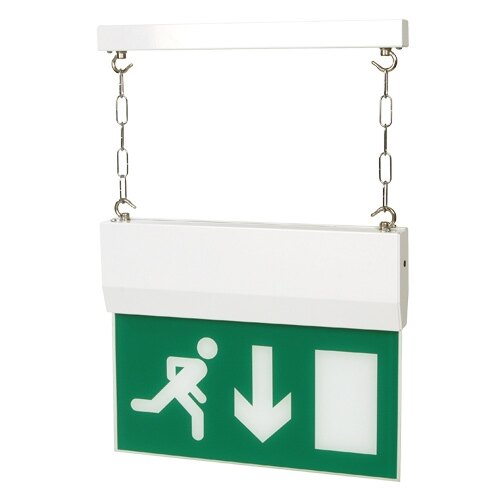 Decorative Hanging Fire Exit Sign (Fire Exit Blade) With Self-Test - MP8/ST