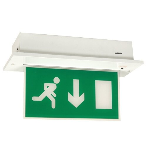 Recessed Fire Exit Sign (Fire Exit Blade) With Self-Test - MPR
