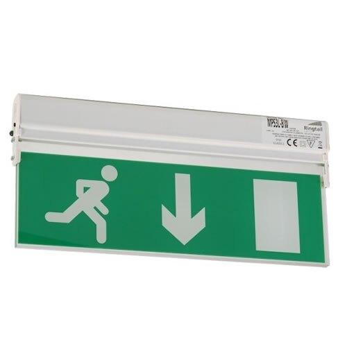 Slimlineled Fire Exit Sign Mps3l W Safelincs