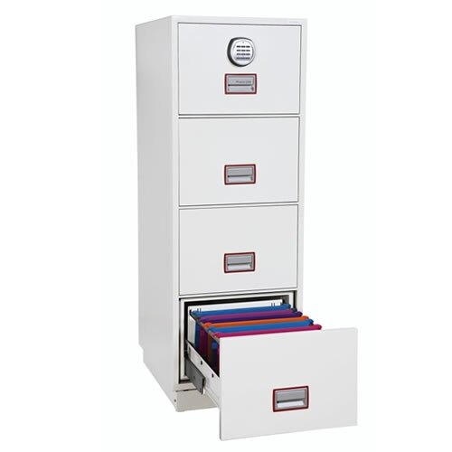The Phoenix Firefile 2244 Fireproof Cabinet file drawers