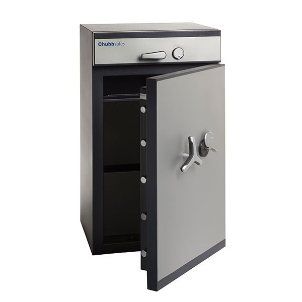 The safe has an ergonomic soft-touch handle