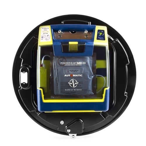 The Rotaid Plus cabinet is suitable for storing Cardiac Science, Physio Control, Philips and Zoll defibrillators