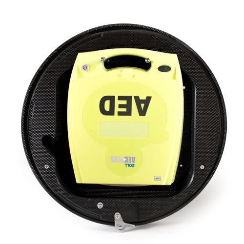 The Rotaid cabinet is suitable for most makes of defibrillator