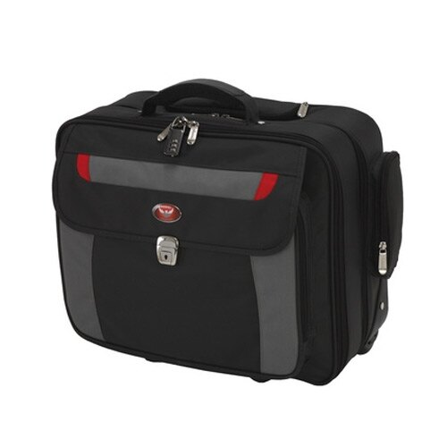 "Phoenix Venice 17"" Laptop Security Case with Telescopic Handle and Trolley Wheels SC0084C"