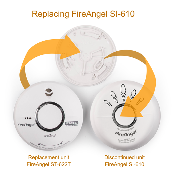 Replacement for FireAngel SI-610 10 Year Smoke Alarm