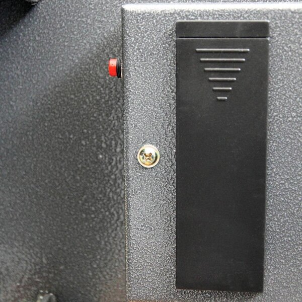 The electronic lock of the Vela security safe is battery powered