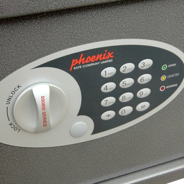 The Phoenix Vela safe is fitted with an electronic lock as standard