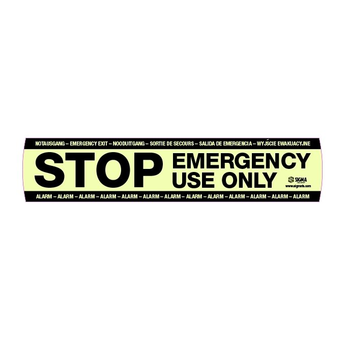 Sigma Smart+Shield Fluorescent STOP Sticker