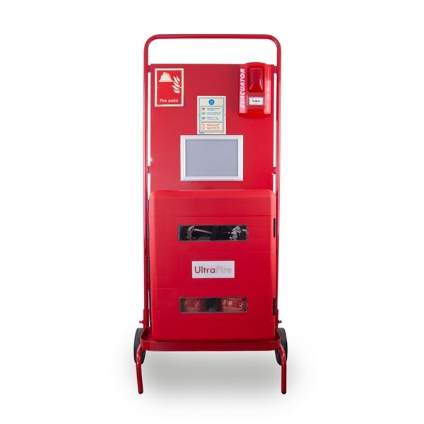 UltraFire Double Cabinet Site Stand with Optional Push Button or Call Point Site Alarm