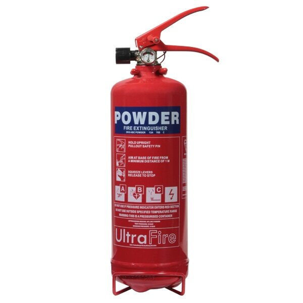 100 x 2kg Powder Fire Extinguishers - UltraFire