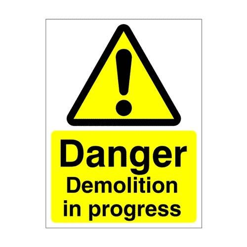 Warning-Demolition-600x450mm Technical Lettering Templates on proposal outline, requirements document, report writing, service report, bid evaluation, design document, release notes, standard word, evaluation subfactors, spec sheet, incident report,