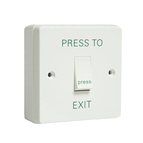Access Control White Exit Button