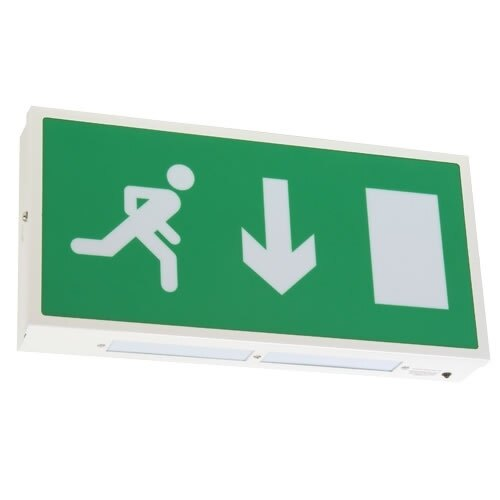 Economy Led Fire Exit Sign X Es Safelincs Ringtail