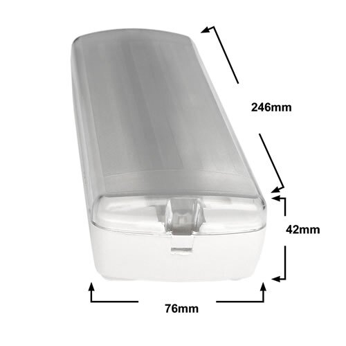 Dimensions of the X-GSA Led Emergency Bulkhead