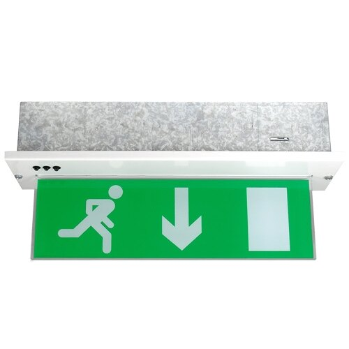Recessed LED Fire Exit Sign with Self-Test - X-MPR