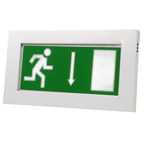 Emergency Escape Route Sign (Fire Exit Box) with Self Test - X-SL