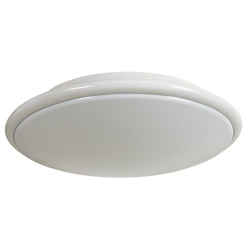 Decorative Slimline Circular Emergency Bulkhead Light With Self-Test - XL/ST