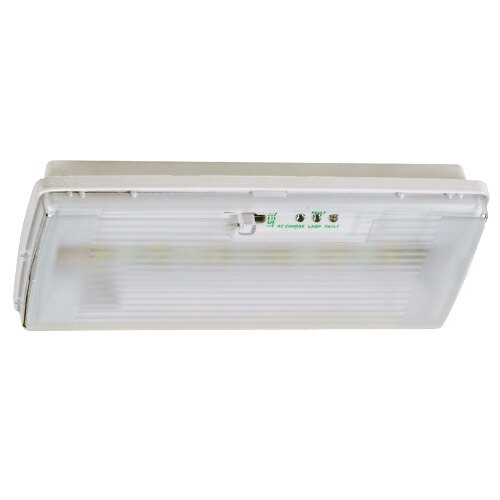 IP42 LED Emergency Bulkhead Light with Self Test - X-RSL