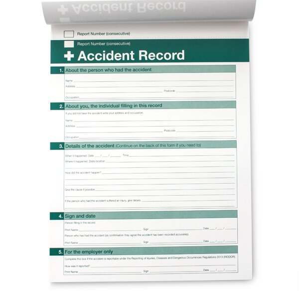 accident book reporting Incident report book by a5 accident/reporting/first aid book.