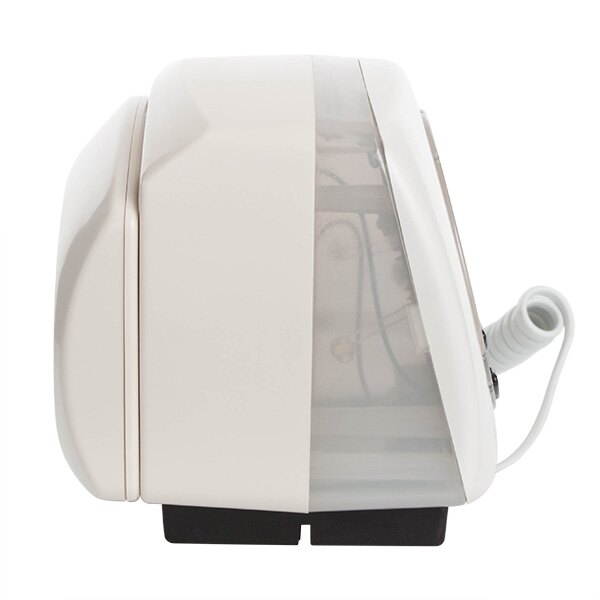 A side profile view of the acoustically activated pillow alarm