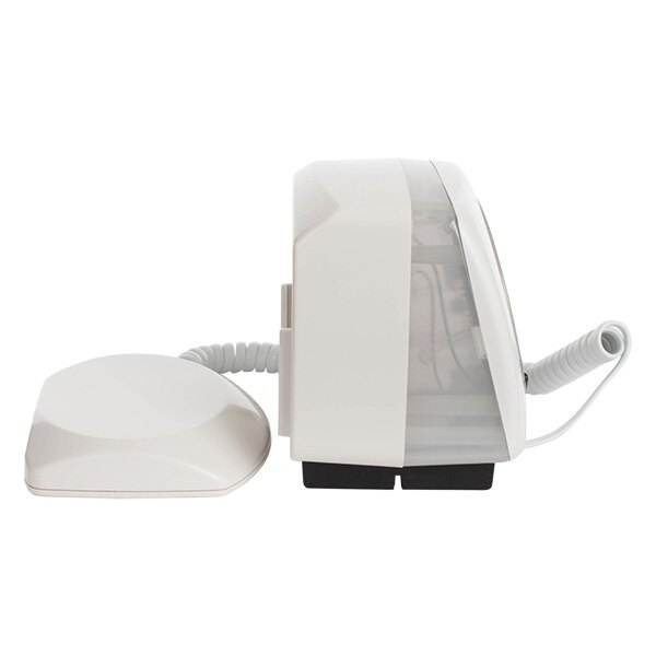 A side view of the Agrippa pillow alarm with the vibrating pad removed