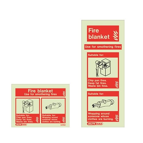 Fire blanket wall signs