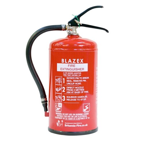 3ltr Water Fire Extinguisher with Additive - Britannia