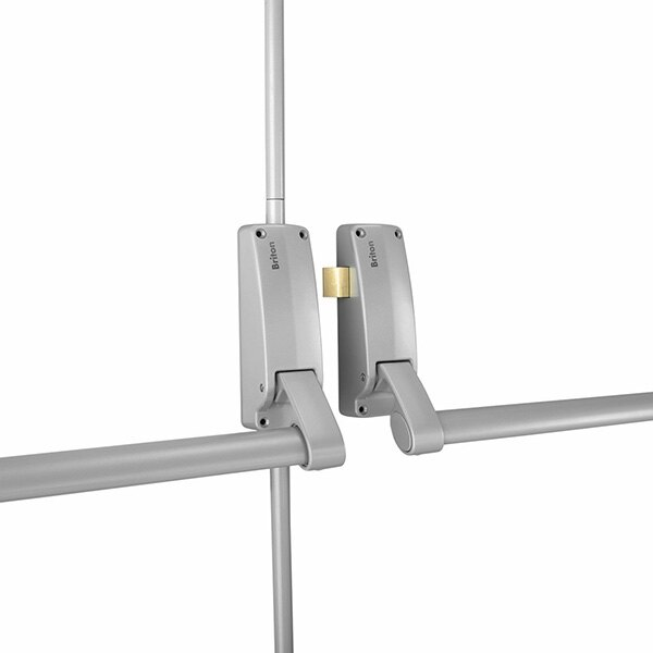 Briton 377 Double Door Panic Bar Set with Latch & Bolt