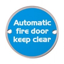 Image of the Metal Fire Door Signs - Automatic Fire Door Keep Clear