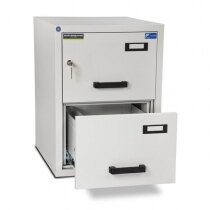 Image of the Burton FF200MK/II Fireproof Filing Cabinet - 2 Drawer