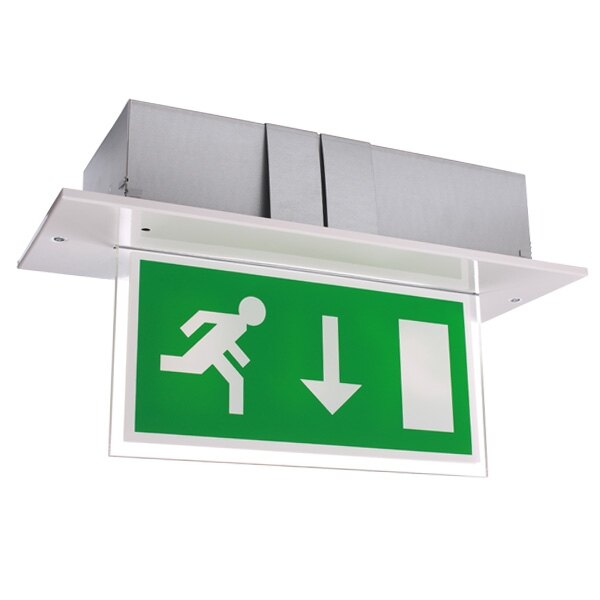 Single Sided Recessed Led Fire Exit Sign Calabor Ex