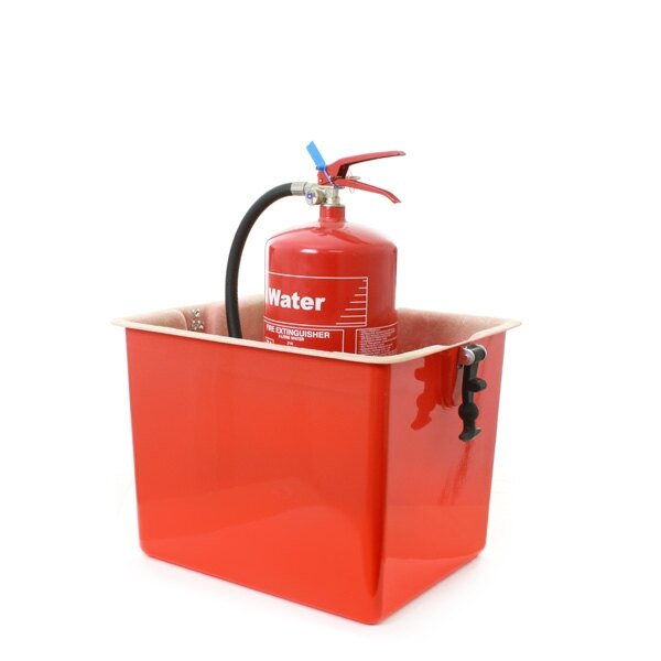 The SX1 cabinet can hold two extinguishers up to 9kg/9ltr