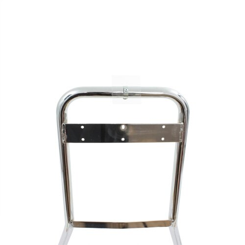 The chrome stand clip features a clear PVC back board