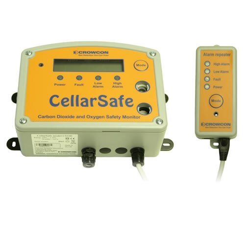 Cellarsafe Mains Powered CO2 and O2 Detector